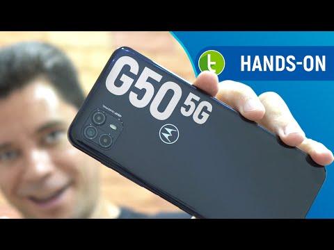 MOTO G50 5G no Brasil, o MOTOROLA mais BARATO para REDE VELOZ?   Hands-on