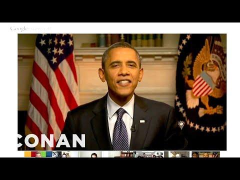 Obama's Google Hangout Surprise Guest - CONAN On TBS