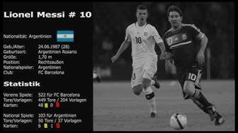 Lionel Messi #10 Kurz Statistik