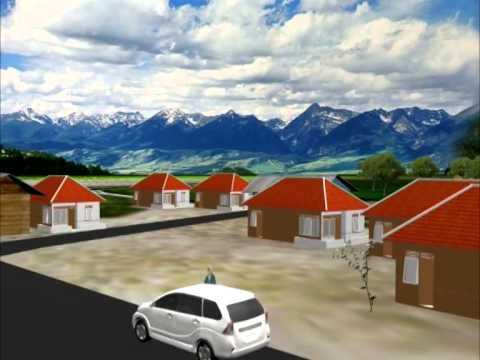 animasi rumah pedesaan - moa gambar
