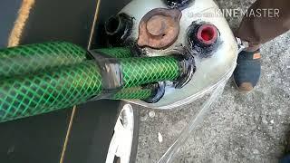 Работа двигателя на парах бензина