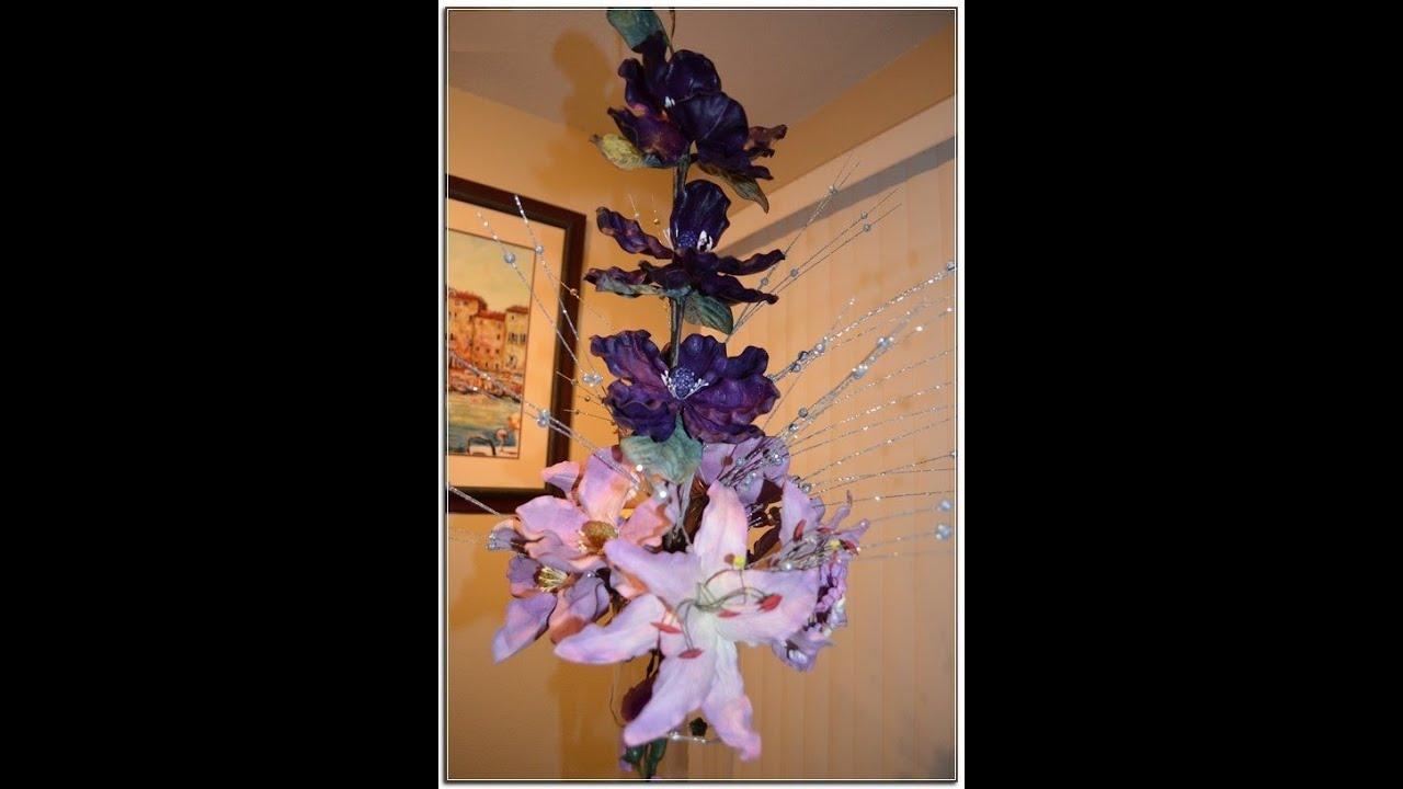 Centros de mesas florales quinceanera mis 15 a os sweet - Arreglos florales artificiales centros de mesa ...