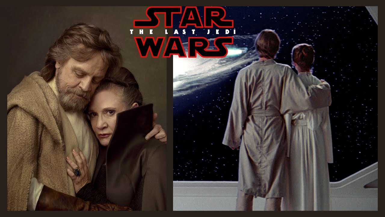 Image result for luke and leia the last jedi reunion