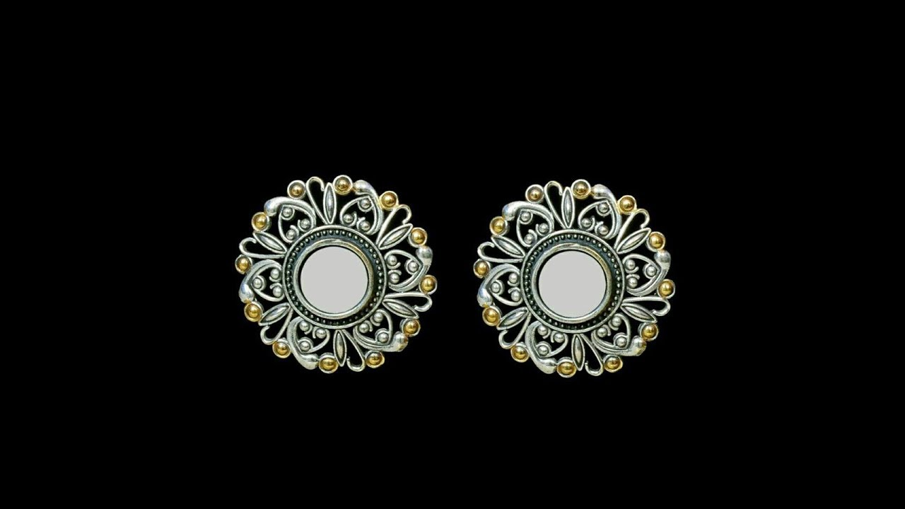 71fed4256 Oxidized Silver Jhumka Earrings || Gold Plated Silver Earrings collections
