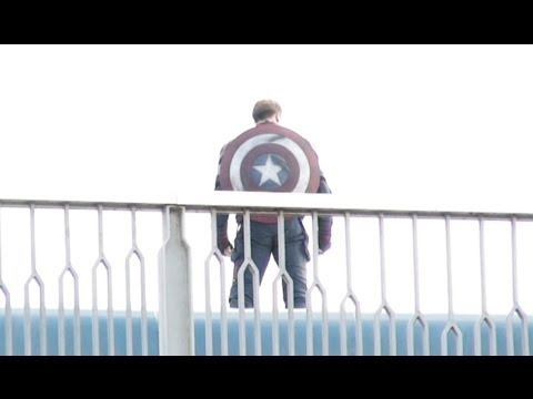 Avengers: Age of Ultron set video shows off Captain America's new costume