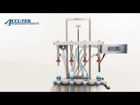 Semi-Automatic Pressure Overflow Filling Machines - Accutek Packaging Equipment Companies