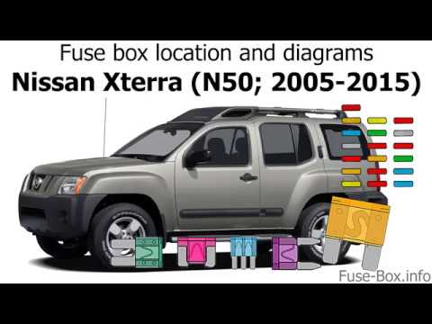 fuse box location and diagrams: nissan xterra (n50; 2005-2015) - youtube  youtube