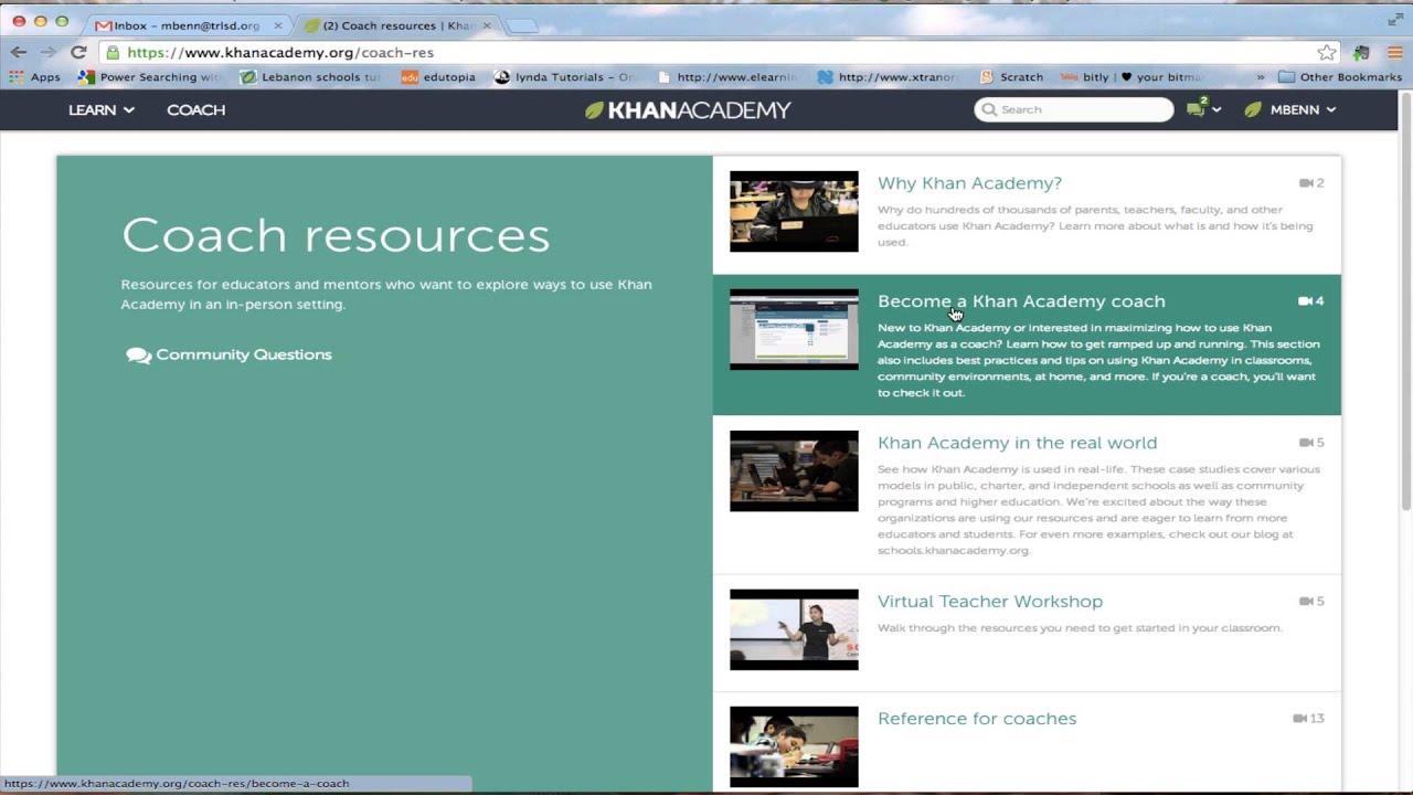 Teacher Training for Khan Academy