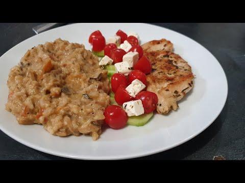 recette-risotto-champignons,-courgette,-aubergine---simple-et-rapide-ريزوتو-بسيط-وسريع-مثل-جيد