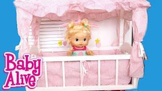 بيبي ألايف ألعاب بنات سرير الدمية حقيقي مع موسيقا Baby Alive Doll Crib Girls