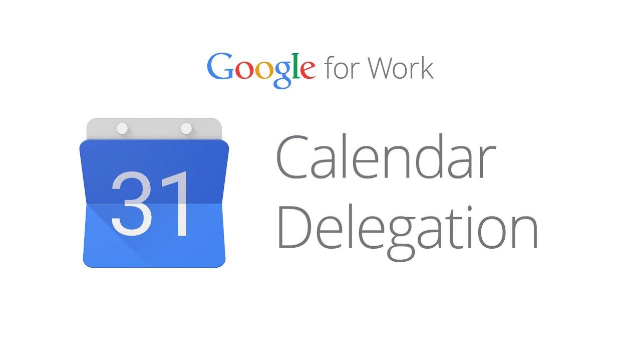 How to set up Calendar delegation