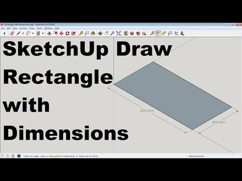 SketchUp Draw Rectangle