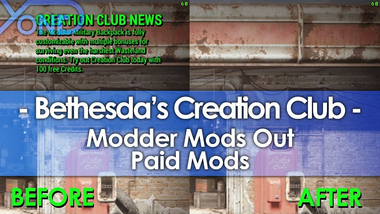 Modder Mods Out Bethesda's Creation Club Paid Mods