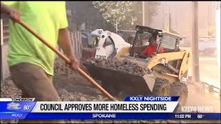 Spokane City Council approves funding for homeless outreach