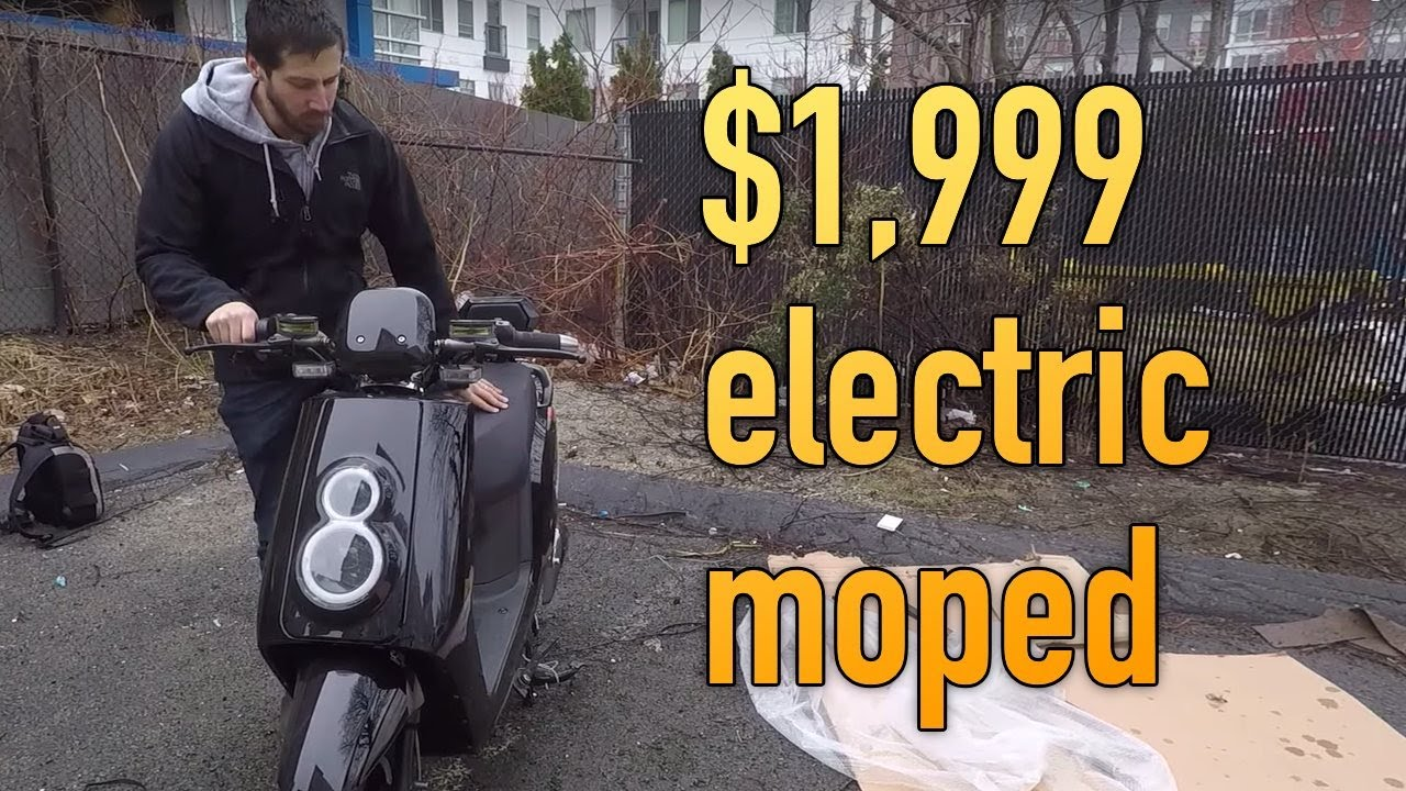 Electric BloomScooter MOPED unboxing & first ride