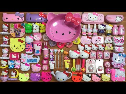 Special Series Hello Kitty Slime | Mixing Too Many Things Into Clear Slime | Satisfying Slime