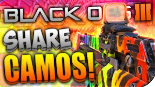 "Black Ops 3 - ""SHARE CAMOS & MORE!"""