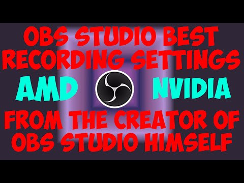 OBS Studio Tutorial- Best Recording Settings 2016 From The Creator Himself