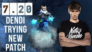 Dendi First Time Ever on New Patch 7.20 - Still Zeus Favourite Hero to gain MMR Dota 2