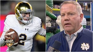 Notre Dame QB Ian Book: 'We know people don't think we belong here'   College Football Playoff
