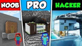 Minecraft NOOB vs PRO vs HACKER : CLIFF HOUSE CHALLENGE in Minecraft Animation!
