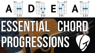 Chord Progression Practice - A D E A - Play TONS of songs with 3 Easy Guitar Chords Mp3