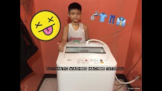 Panasonic Automatic Washing Machine Tutorial