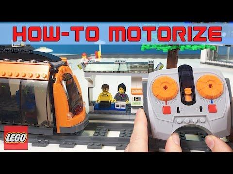 How-To Motorize Lego CITY SQUARE TRAM DIY #60097