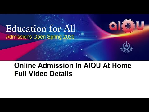 online admission in aiou at home full video details online admission in Allama Iqbal Open University