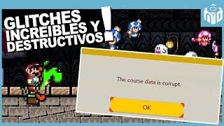 5 GLITCHES Increíbles y Destructivos de Super Mario Maker 2 | N Deluxe