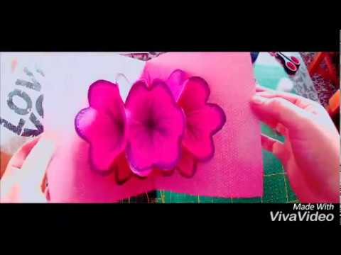 pliage carte fleur 3d youtube. Black Bedroom Furniture Sets. Home Design Ideas