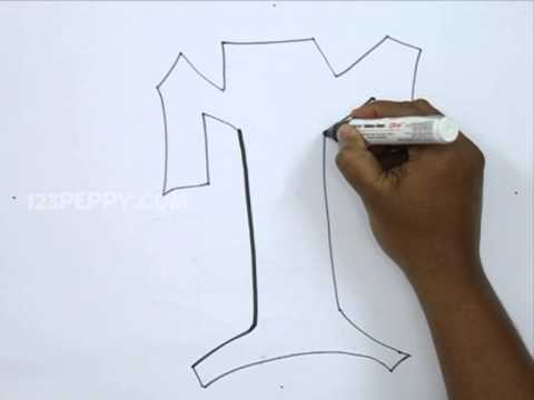 How to draw graffiti letter t