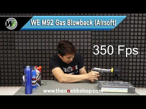 WE M92 Gas Blowback Airsoft
