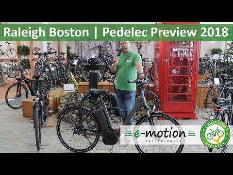 Raleigh e-Bikes - Boston: Vorstellung 2018 | Pedelec Preview, Vorschau