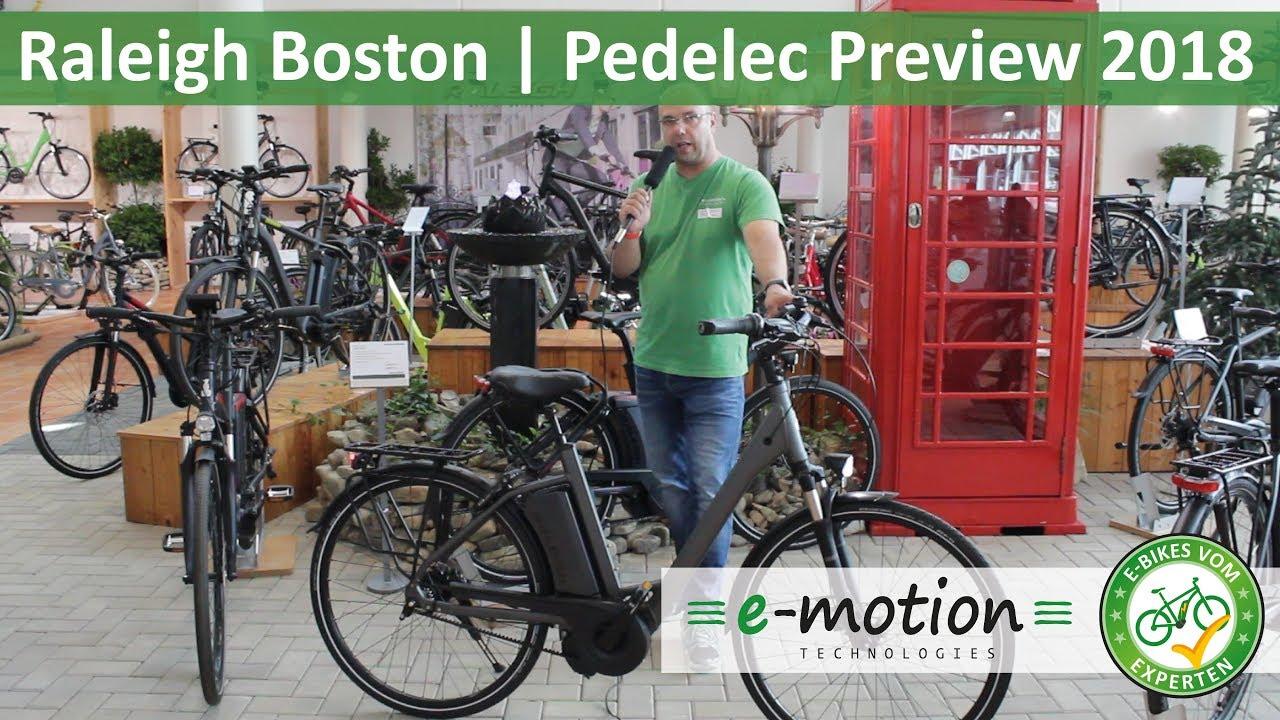 raleigh e bikes boston vorstellung 2018 pedelec. Black Bedroom Furniture Sets. Home Design Ideas