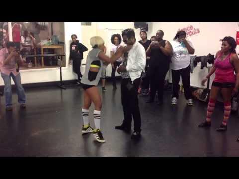 Watch Kaffy challenge Awilo Longomba to a dance off!