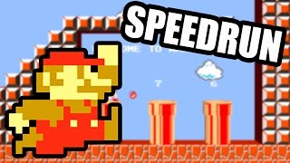 SUPER MARIO BROS EN 4 MINUTES ! [Laupok Speed Comment]