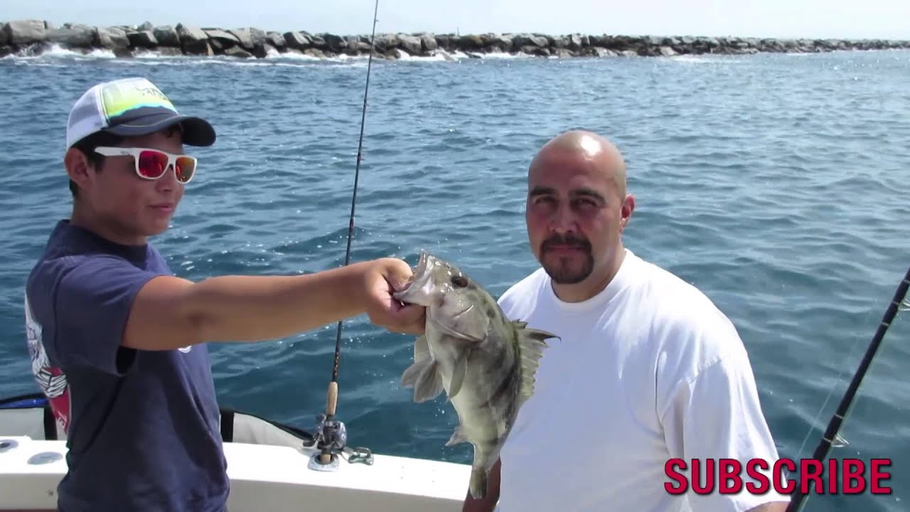 Dan hernandez on his private fishing charter long beach for Long beach sport fishing
