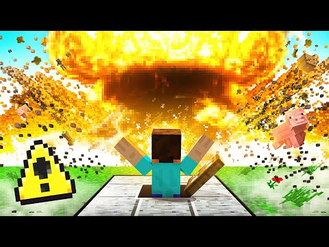 I Tried To Survive A NUKE  In MINECRAFT!