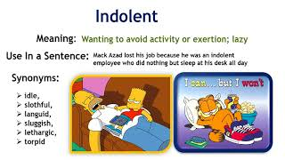 #Indolent-(Learn BCS English Vocabulary with Picture)☑