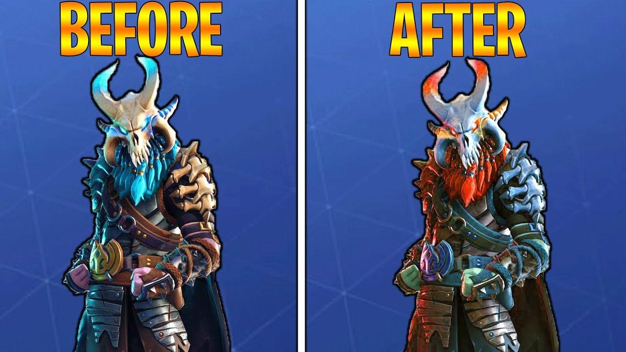 Change Ragnarok Color In Fortnite Season 5 Fully Upgraded