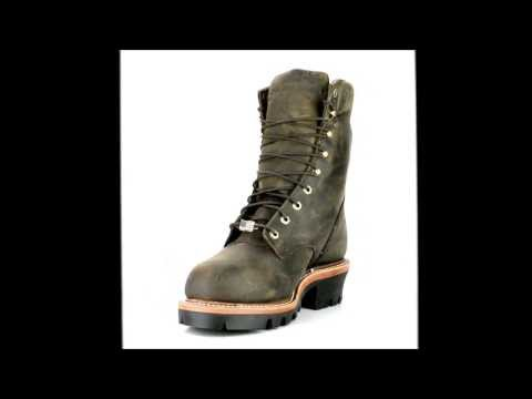 Men's Chippewa Boots 25407 Steel Toe Waterproof Super Logger Work Boot Made In The USA