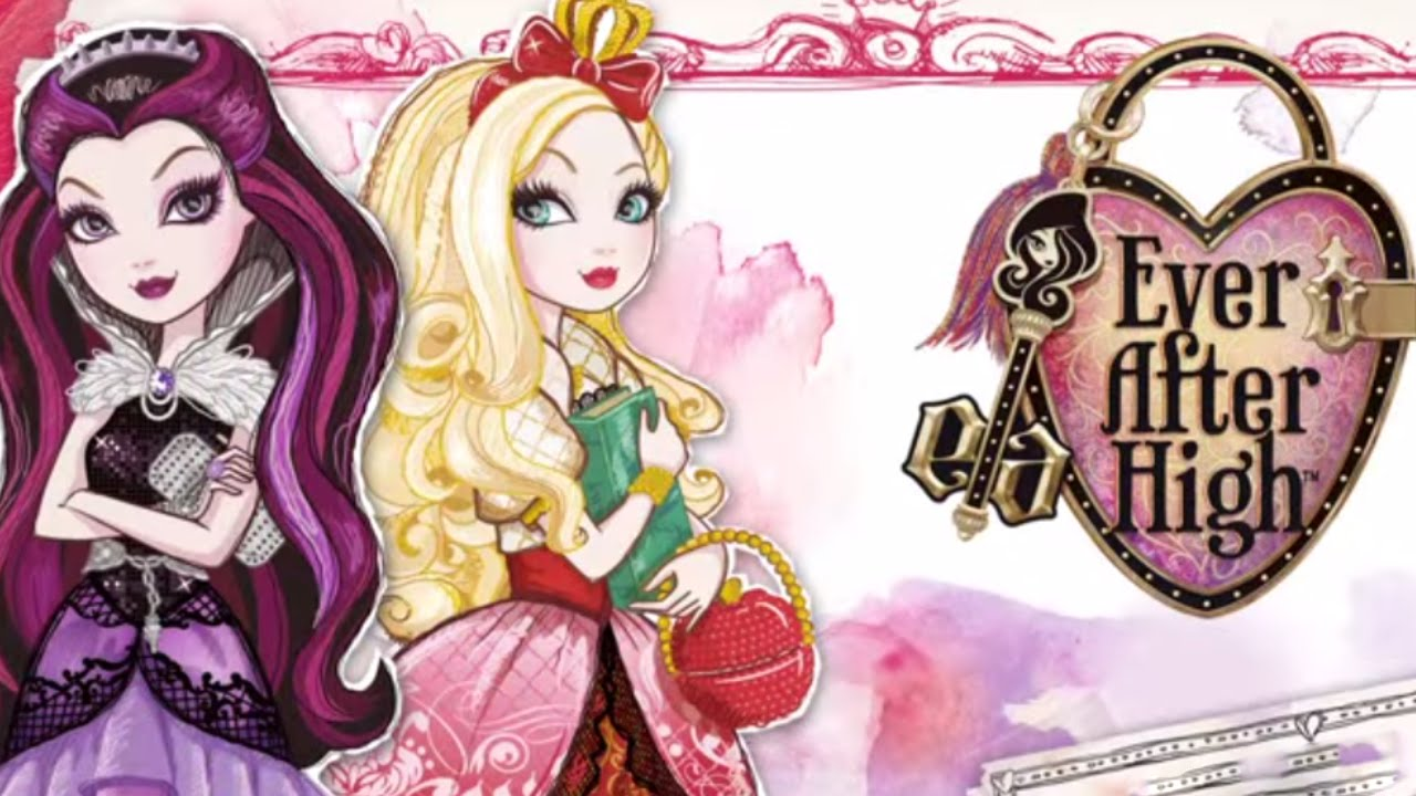 Ever After High Apple Withe Princess vs Raven Queen Dress ...