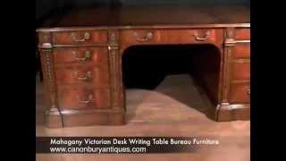 Mahogany Victorian Desk Writing Table Bureau Furniture