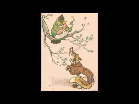 Ворона и Лисица И Крылов, иллюстрации Е М Рачёва читает мама Ивана Крылова