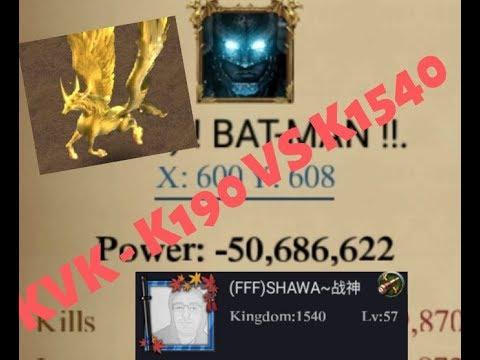 Clash Of Kings : KvK - K190 Vs K1540 - A Defeat
