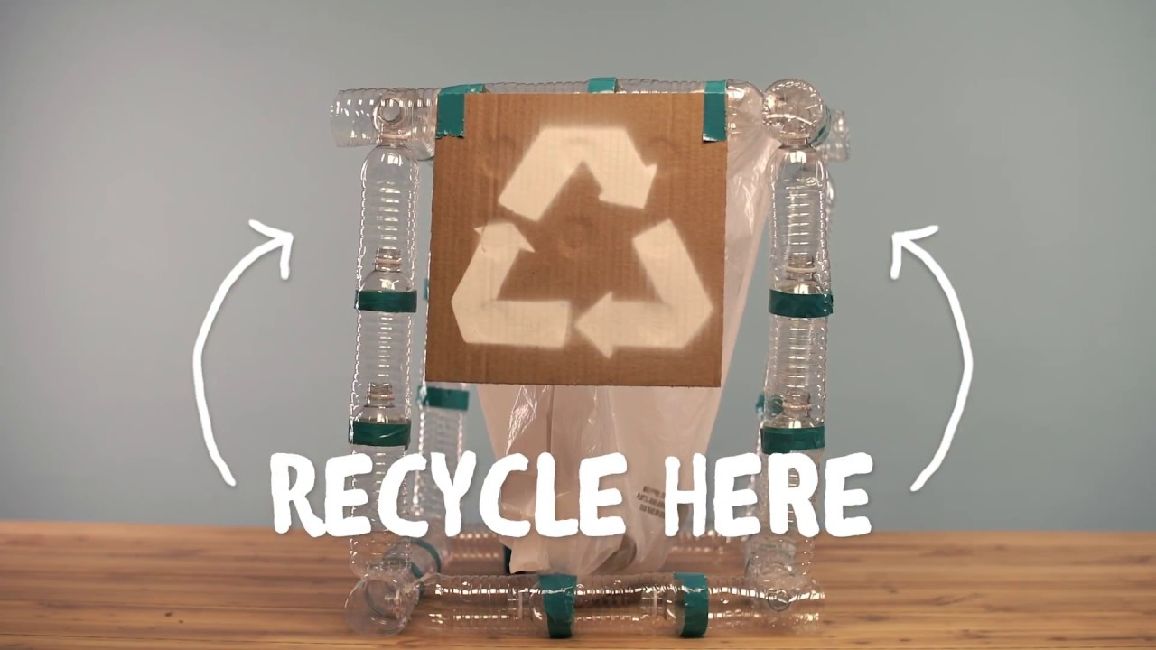 Diy Recycling Station From Plastic Bottlles - Youtube