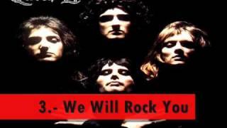 Las 5 mejores canciones de: Aerosmith, Queen, Guns n Roses y Bon Jovi