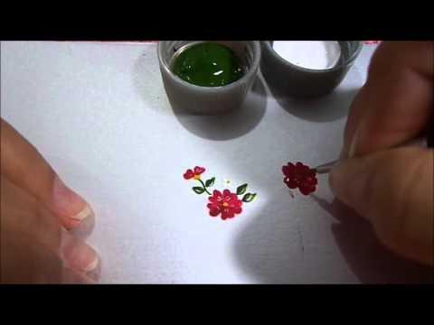 #2 Vamos aprender mais um modelo de flor para ADESIVO de unha??