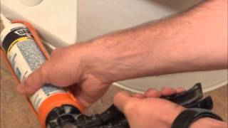 How a Pro Caulks a toilet
